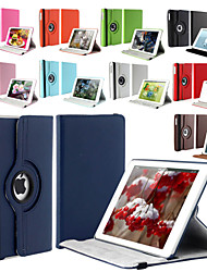 360 Degree Rotating Stand PU Leather Auto Sleep and Wake Up Case Cover for iPad Air 2