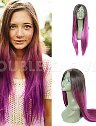 10A Ombre Purpel Color Japanese Heat Resistent Synthetic Hair Front Lace Wig Synthetic Lace Front Wig