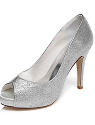 Women's Wedding Shoes Peep Toe / Platform Sandals Wedding / Party & Evening / Dress Silver / Champagne