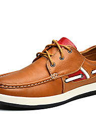 Men's Shoes Outdoor / Office & Career / Work & Duty / Athletic / Casual Leather Boat Shoes Black / Brown