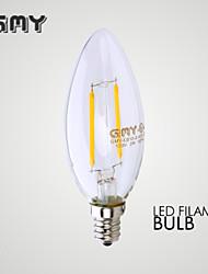 Ampoules Bougies LED Décorative Blanc Chaud GMY 1 pièce B E12 2W 2 COB ≥200 LM AC 110-130 V