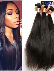 """3 unidades / lote 8 """"-22"""" cabelo virgem malaio trama do cabelo reto 100% cabelo humano remy não transformados 8a tece"""