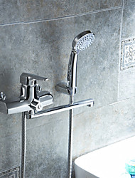 Wall Mounted Bathroom Faucet of Solid Brass Body Chrome Finished Surface Single Handle Tap K1729