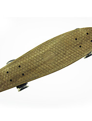 PP Plastic Skateboard (22 Inch) Cruiser Board Yellow Color
