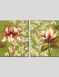 Oil Paintings Flower Style  Canvas Material with Stretched Frame Ready To Hang Size 70*70*2PCS