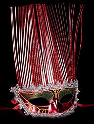 Masque / Bal Masqué Ange et Diable Fête / Célébration Déguisement Halloween Rouge / Doré / Argent Couleur Pleine MasqueHalloween /