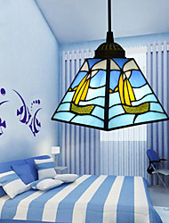 22*16*12CM Tiffany Stained Glass Contemporary And Contracted Mediterranean Single-Head Sailing Line Droplight Lamp LED