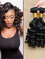 """3pcs / lot 8 """"-30"""" 7a brasilianische reine remy Haarverlängerungen # 1b (natürliche Farbe) brazilian princess Romanze lockiges Haar mtbw50"""