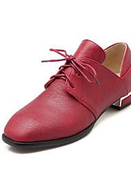Chaussures Femme - Habillé / Décontracté - Noir / Jaune / Rouge - Gros Talon - Talons / Bout Carré - Talons - Similicuir