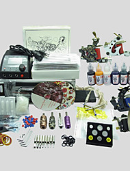 4 Guns BaseKey Tattoo Kit K410 Machine With Power Supply Grips Cups Needles(Ink not included)