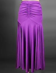 Robes(Noire / D'Orange / Violet / Rouge / Bleu Royal,Elasthanne,Danse moderne)Danse moderne- pourFemme Au drapée Spectacle Danse de Salon