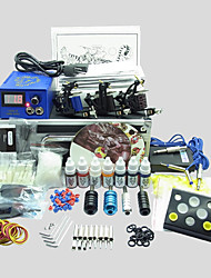 3 Guns BaseKey Tattoo Kit K309 Machine With Power Supply Grips Cups Needles(Ink not included)