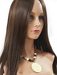 femmes brésiliennes couleur de cheveux vierges (brun # 1 # 1b # 2 # 4) avant perruques de cheveux raides