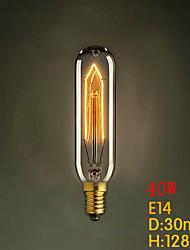 t10 e14 220v-240v 40W tubi creativo lampadina piccola vite luce edison