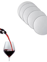 reutilizáveis de bebidas pourer vinho folha disco suco pourer rolha bar bico garrafa laváveis, conjunto de 10