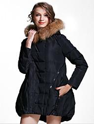 Женский На каждый день Парка Женский Пальто , Длинный рукав , Другое