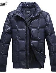 Lesmart Hombre Escote Chino Manga Larga Abajo y abrigos esquimales Azul Oscuro - MDME10411S