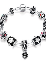 Strand Beads Bracelets&Bangles Charms Beads fit glass Making Silver Plated Crystal Big Hole Beads Beads PH002
