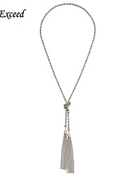 D Exceed Simple Silver Thin Chain Tassels Necklaces & Pendants For Women Long Necklace Jewelry Accessories Gift