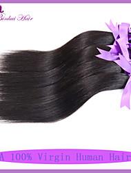 cabelo virgem não transformados indiano cabelo virgem reta 4pcs / lot 7a tece baratos extensões de cabelo humano