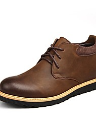 Men's Shoes Outdoor / Office & Career / Work & Duty Leather Boots Black / Brown