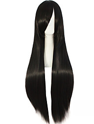 Anime Girl 80cm High Temperature Black Silk Long Wigs Akiyama Mio Yan's love Synthetic Wigs