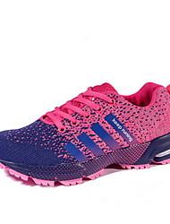 Scarpe Donna - Sneakers alla moda - Casual - Punta arrotondata - Piatto - Finta pelle - Nero / Rosa / Rosso