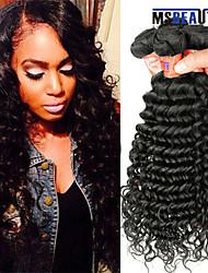 """4 pièces / lot 8 """"-28"""" péruvien cheveux vierges profonde ondes trames de cheveux humains 8a 100% cheveux remy péruvien non transformés"""