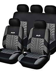 9 piezas Set Car Seat Covers de Material Poliéster tecnología Heat-Grabado en relieve Universal Fit