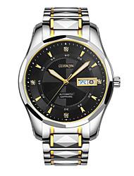 homens guanqin auto-liquidação relógio à prova d'água de 100m luminosa calendário safira aço cristal de relógio de pulso automático 42