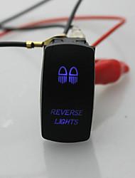 iztoss laser 5pin interruttore inversione on-off ha condotto la luce 20a 12v blu con fili per l'installazione