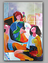 Abstract Cartoon People Oil Painting Design With recentage Style Design