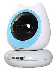 Wanscam New Model 720 HD Indoor White&Blue Wireless Baby Camera HW0048