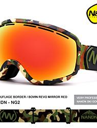 2016 n&n lunettes de ski lentille à double couche anti-buée de grosses lunettes de ski professionnels sphériques lunettes unisexes