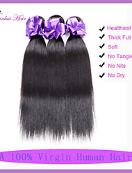 Верхнего качества 7а Малайзии девственные волосы прямые 3 шт Малайзии прямые волосы человеческих волос малайзийских волос