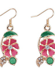 Crystal Flowers Temperament Long Section Of The Korean Fashion Earrings