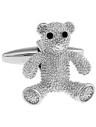 Animal toy teddy bear cufflinks French shirt cuff nail