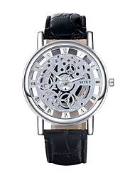 Men's PU Analog Mechanical Wrist Watch Cool Watch Unique Watch