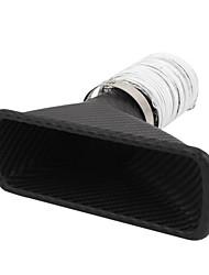 venda quente transporte livre ar inlet tubo de escape à saída de ar funil de ar do carro de fibra de carbono de entrada de ar