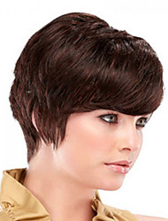 New Product Dark Brown  Short Syntheic  Wig Extensions Top Quality
