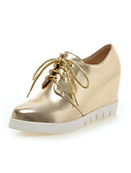 Women's Shoes Leatherette Chunky Heel Heels Heels Office & Career / Dress / Casual Black / White / Silver / Gold