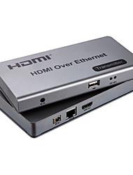 HDMI KVM Extender sur un câble Cat5e / 6 étend 120meter avec contrôle de ir clavier de soutien et de contrôle de la souris