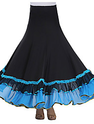 Ballroom Dance Tutus & Skirts Women's Performance Crepe / Milk Fiber Draped 1 Piece 5 Colors
