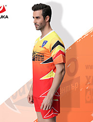 ZHOUKA® Customized/Personalized Custom (Word + Number) Soccer Kit Football Jersey Sportswear Team Polo Shirt + Shorts