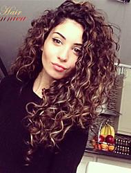 8a brasileiro 100% virgem não transformados laço do cabelo humano peruca de cabelo encaracolado Kinky