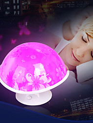 Gift Mushroom Moon Light Fantasy Colorful Color Energy Saving A Night Light Lamp LED(Random Color)