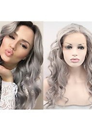 "18""-24"" Unprocessed Brazilian Virgin Human Full Lace Grey Wigs Glueless Lace Front Grey Hair Wigs In Stocks"
