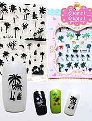 1pcs  Island Breeze 3D Nail Stickers