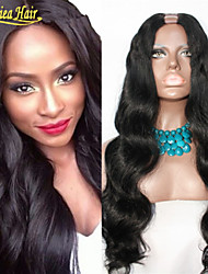 Factory supply wholesale human hair u part wig 100 percent human hair wigs Brazilian Human Hair U Part wigs