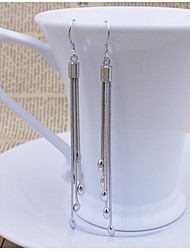 925 Sterling Silver Long Tassel Earrings Earrings